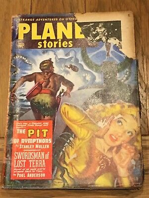 Planet Stories - US SF pulp - Nov. 1951 - The Pit of the Nympthons - Yes really