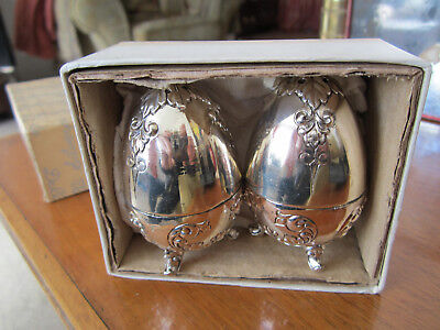 Silver plated vintage cruet set in original box Never used