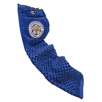 Leicester City Tri-fold Golf Towel - Blue - Trifold Football Official Fc