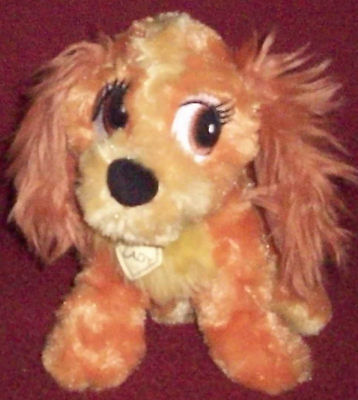 "Disney Parks LADY Plush Toy With Tag Attached 9"" Lady & The Tramp"