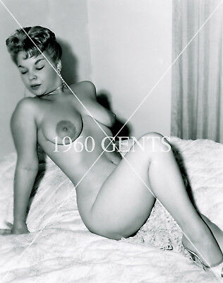 1950s NUDE 8X10 PHOTO OF BUSTY BIG NIPPLES FAMOUS PINUP FROM ORIGINAL NEG-5BW