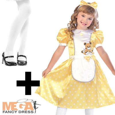 07e35496a67 GOLDILOCKS GIRLS CHILD Fancy Dress Up Costume Outfit Age 4 - 12 Yrs ...