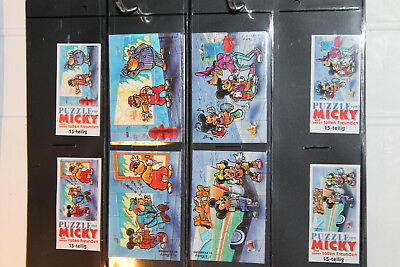 Original komplettes Puzzle Micky Maus   + alle 4 BPZ