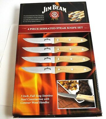 Set mit 4 Jim Beam USA Steak Messer Steakmesser