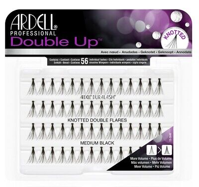Ardell Eye Lashes Double Up Knotted Medium Black x 4 Pack #68291