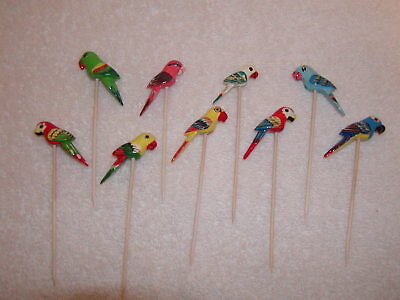 Vintage Parrot Hors d'oeuvre Picks Bird Party Picks
