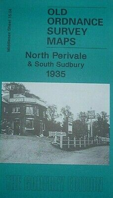 Old Ordnance Survey Map North Perivale & South Sudbury Middlesex 1935  Sh 15.04