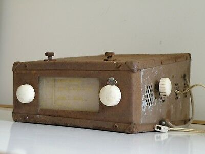 VERY RARE KINGSLEY c.1950 VALVE CAR RADIO MADE IN AUSTRALIA, AS-IS, UNTESTED