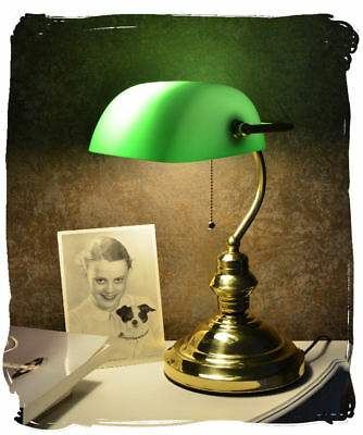 Table desk bankers lamp vintage style brass reading study office lamp home new