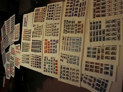 Great Britain - Over 100 Pages With Over 4000 Stamps Hinged Incl. Lots Of Better