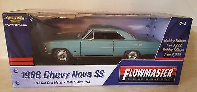 AMERICAN MUSCLE 1:18 DIECAST FLOWMASTER 1966 CHEVY NOVA SS w BOX LIMITED 1/5000