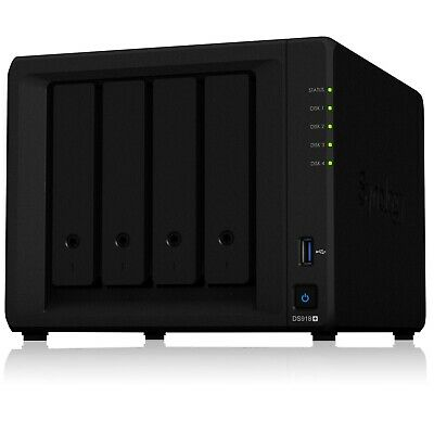 Synology DS918+ 4 Bay NAS Intel Quad Core 1.5GHz 4GB Network Storage Home Server