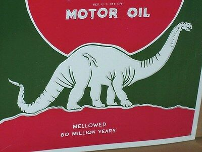 SINCLAIR OPALINE MOTOR OIL - Dino Dinosaur - PUMP SIGN -MELLOWED 80 MILLION YEAR