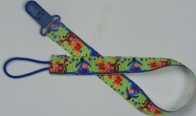 Extra long pacifier clip Winnie the Pooh