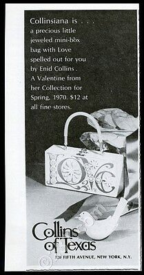 1970 Enid Collins Love Valentine's day box purse handbag photo vintage print ad