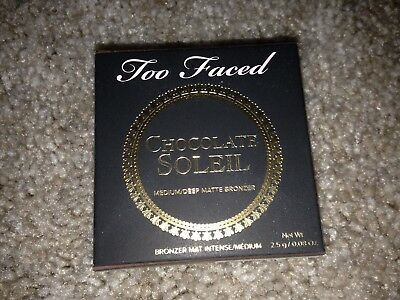 Too Faced Chocolate Soleil medium deep matte bronzer travel sample 0.08 oz NEW