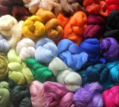 Merino wool tops for needle & wet felting  - VARIETY PACK - 30 colours