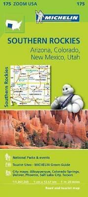 Southern Rockies Zoom Michelin Map 175: Arizona, Colorado, New Mexico, Utah