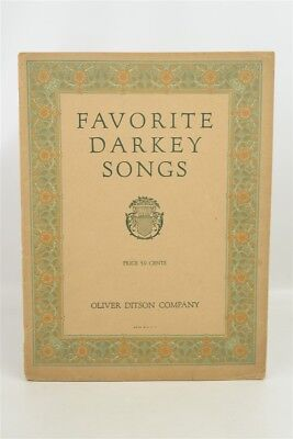 Antique 1927 Black Americana Sheet Music Book w/ 13 Songs Oliver Ditson Co.