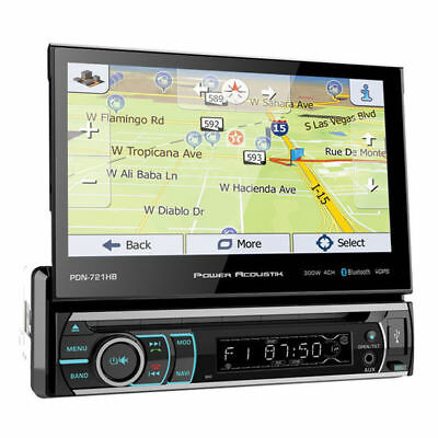 POWER ACOUSTIK Single DIN Bluetooth DVD/CD Car Stereo w/ TouchScreen | PDN-721HB