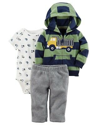 dcd78e5d3295 CARTER S DUMP TRUCK Construction 3-Piece Pants Outfit Set Baby Boy 9 ...
