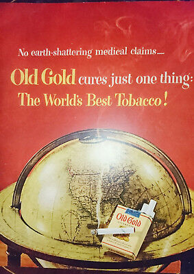 ORIGINAL FULL PG ADVERT FROM 1950 MAGAZINE - Old Gold Cigarettes