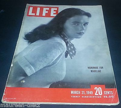March 21, 1949 LIFE Magazine 40s Advertising ads add ad FREE SHIPPING 3 22 23 24