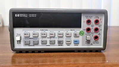 Agilent HP Keysight 34401A Digital Multimeter, 6.5 Digit  with CALIBRATION