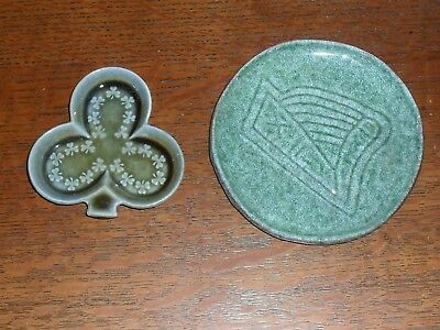 Old Wade Clover Dish & Irish Harp Pottery Plate Eire Pin Dish