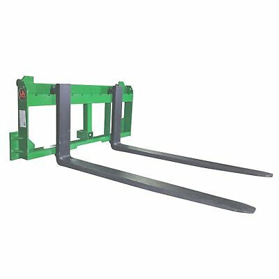 "UA Made in the USA 60"" Pallet Fork with 2"" Trailer Receiver Hitch fit John Deere"