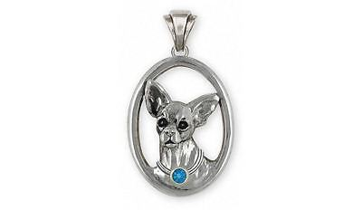 Chihuahua Pendant Jewelry Sterling Silver Handmade Dog Pendant CH19-SP
