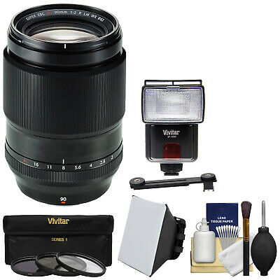 Fujifilm 90mm f/2 XF R LM WR Lens Kit for X-A2 X-E2 X-T1 X-T10 Digital Camera