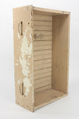 Rustic Old Drawer Shabby Chic Primitive Shadow Box Wainscot Back Chipped Paint