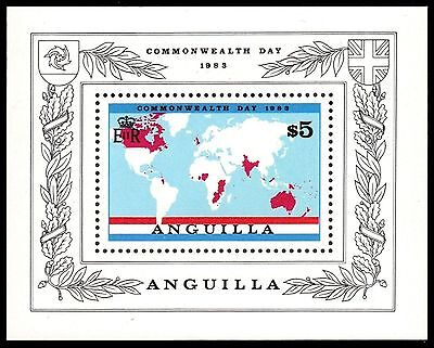 "ANGUILLA 525 (SG548) - Commonwealth Day ""Commonwealth Map"" (pa56807)"