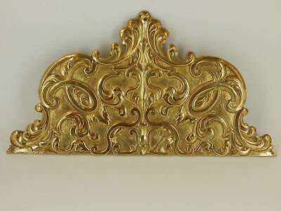 Fancy LARGE Ornate Vintage Used Brass Door Push  Protector - Marked, ITALY