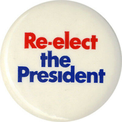 Official 1972 Richard Nixon Re-Election Logo Button ~ Cello Version (1672)