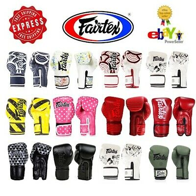 FAIRTEX GLOVES MUAY Thai Kick Boxing MMA K1 Micro Fiber BGV11 BGV14