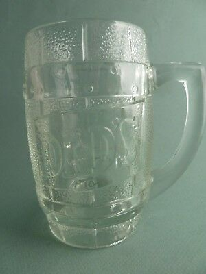 Vintage DAD'S Root Beer Glass Mug Promotional Advertising Cup Stein Soda