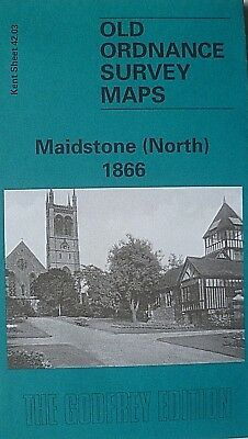 Old Ordnance Survey Detailed Maps Maidstone North Kent  1866 Godfrey Edition