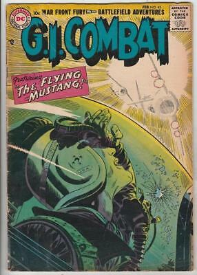 G.I. Combat  # 45  strict  VG+  KEY   number  2nd DC Issue rare!