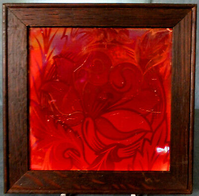 RARE FRAMED MAW & Co HIGH LUSTRE ARTS & CRAFTS TILE by LEWIS F DAY