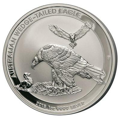 Australien - 1 Dollar 2018 - Wedge Tailed Eagle - 1 Oz Silber ST in Kapsel