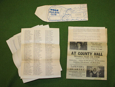 1952 BLACKWOOD BROTHERS Concert Promo Charleston South Carolina Collectors L@@K