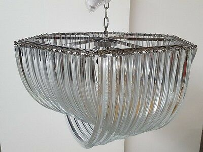 UNIQUE GIGANTIC SPUTNIK CHANDELIER CEILING LAMP murano triedo triedi glass