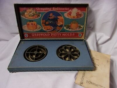 Griswold Cast Iron Patty Mold Rosette Cookie Form  # 1 w/ Box & Instruction  T*