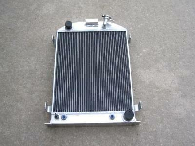 32 Street Rod 3 Row Aluminum Radiator Chevy Outlets Trans Cooler Fittings 25x17
