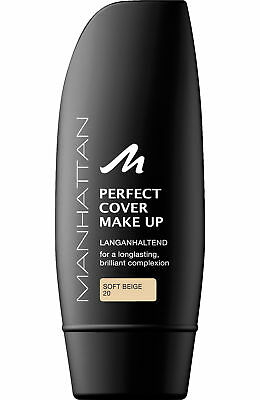 Manhattan Perfect Cover Make up 20 Soft Beige 30ml Langanhaltende Foundation