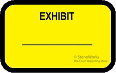 EXHIBIT Labels Stickers Yellow  492 per pack Free Shipping
