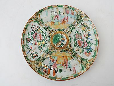 """19th Century Chinese Export Porcelain Rose Medallion Plate 7""""3/4 D"""