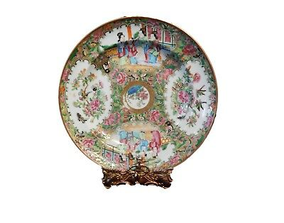 """Superb 19th Century Chinese Export Porcelain Rose Medallion Soup Plate 9.75"""""""